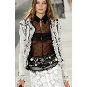 CHANEL Netted top